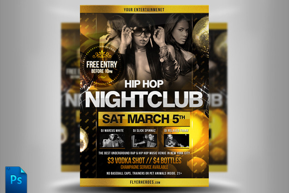 Hip Hop Flyer Template 2 - Heroturko Download
