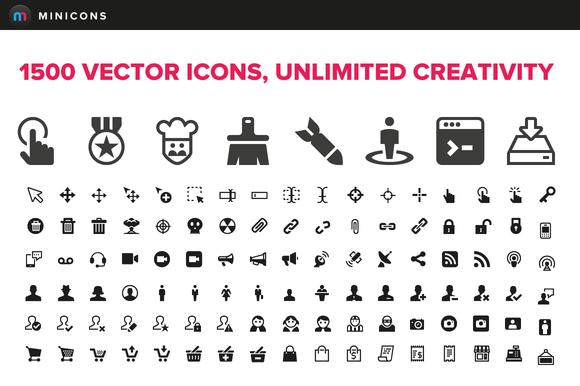 1500 Vector Icons Minicons