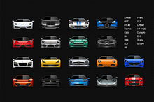 Sport cars icons set