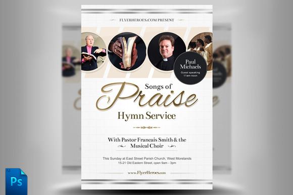 Songs Of Praise Flyer Template