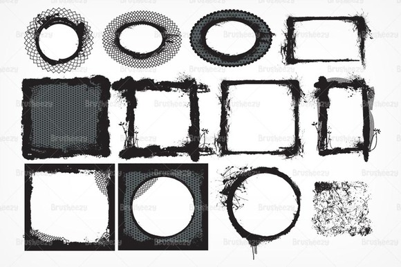 Grungy Frame Brushes Pack