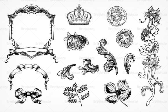 Etched Ornament Brushes Pack
