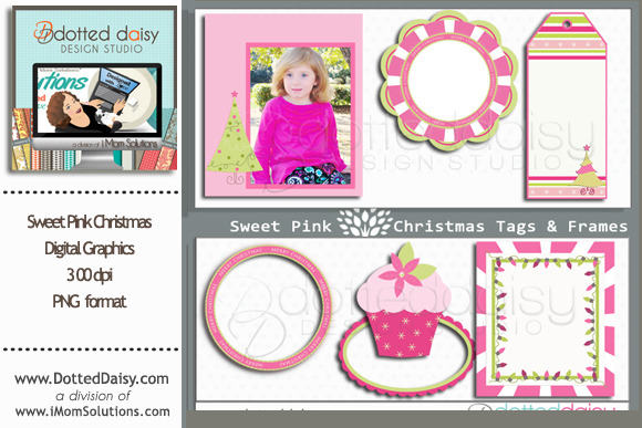 Sweet Christmas Digi Tags Frames