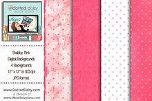 Shabby Pink Digital Backgrounds