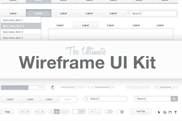 Ultimate Wireframe UI Kit ~ Website Templates  Free Download