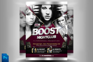 Maximum Boost Club Flyer Template