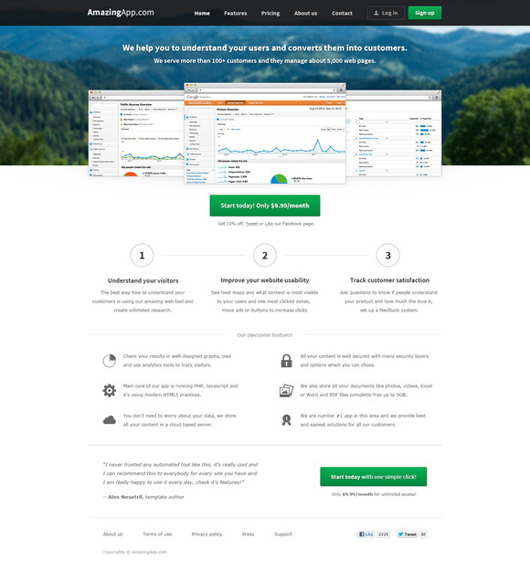 AmazingApp – Web App Template ~ Website Templates  Free Download