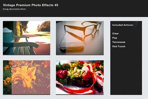 Vintage Premium Photo Effects #5