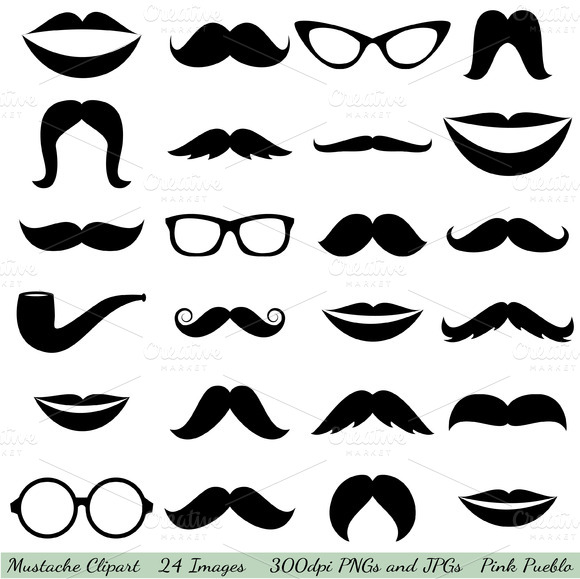 Mustaches Vectors And Clipart