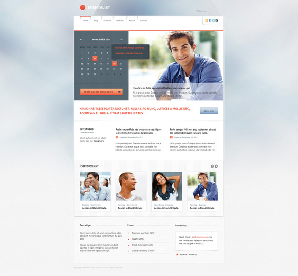 Eventalist PSD Template ~ Website Templates  Free Download