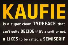 Kaufie + Webfont
