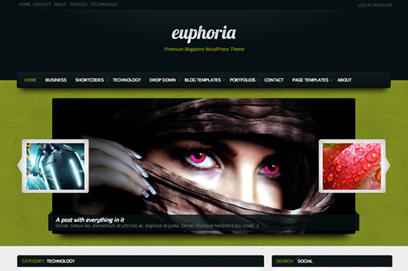 Euphoria Magazine ~ WordPress Themes  Free Download