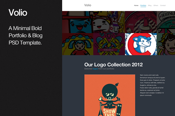 Volio Portfolio & Blog PSD Template ~ Website Templates  Free Download