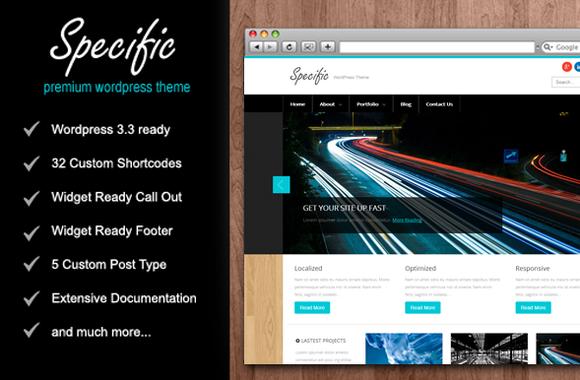 SPECIFIC WordPress Theme