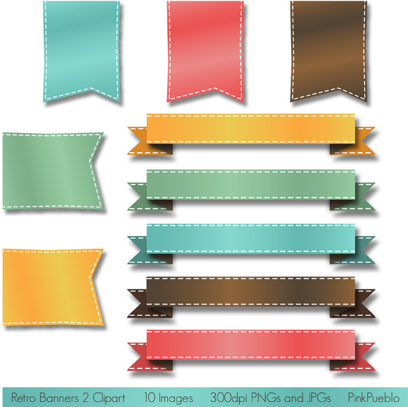 Retro Banners Vectors And Clipart 2