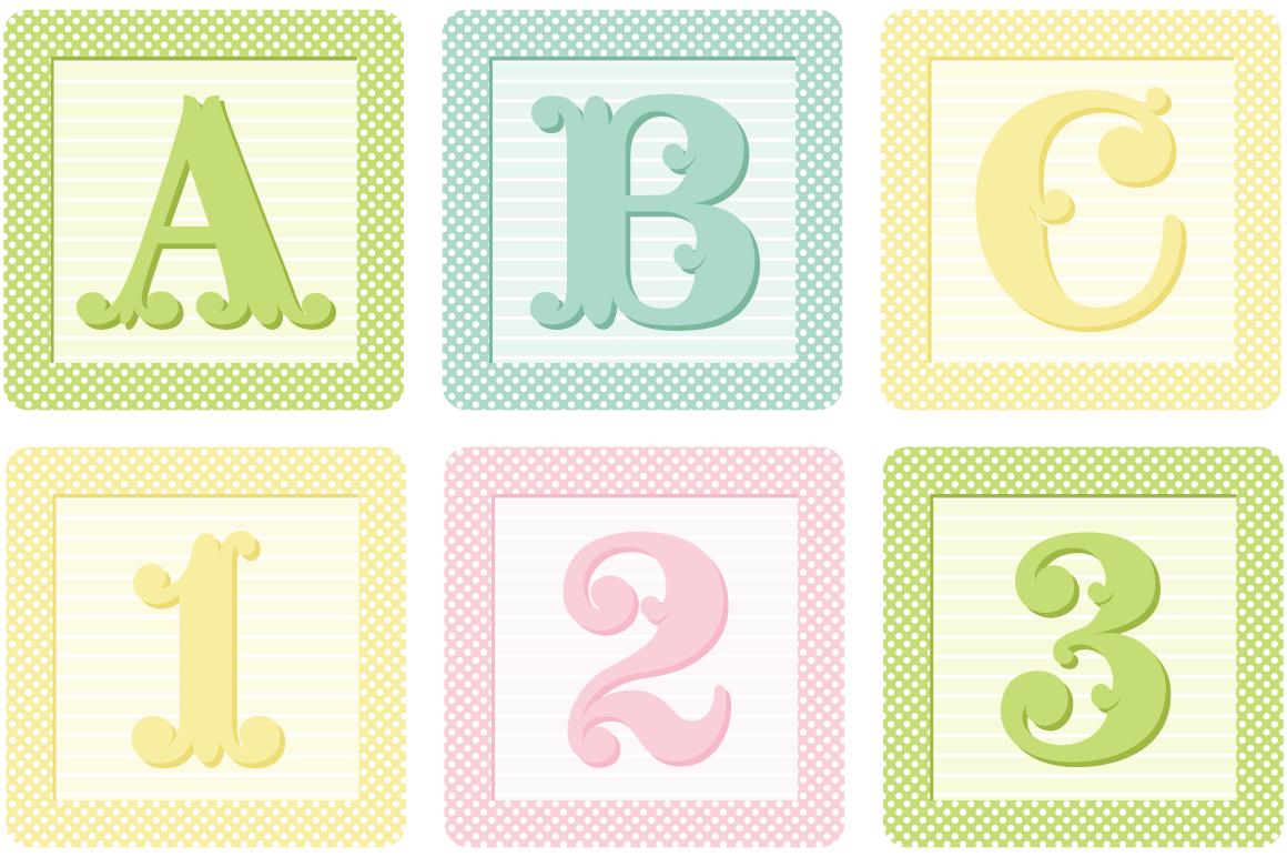 Vector Shabby French Blocks Alphabet ~ Illustrations on ...