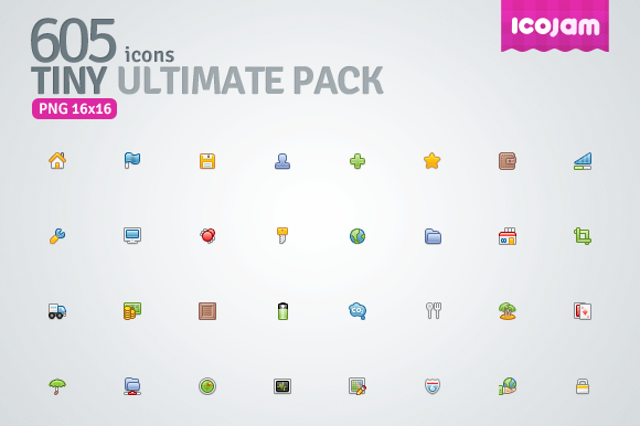 605 Icons In Tiny Ultimate Pack