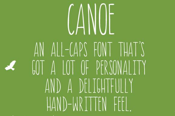 canoe font