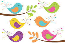 Vector Birds and Tree Branches