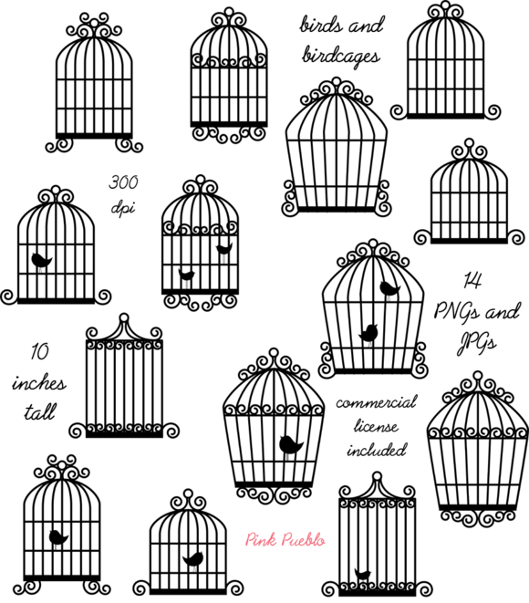 Birdcage Vectors And Clipart