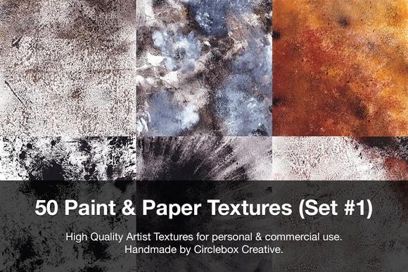 50 Paint Paper Textures
