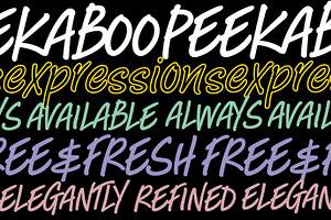 Peekaboo font - in opentype