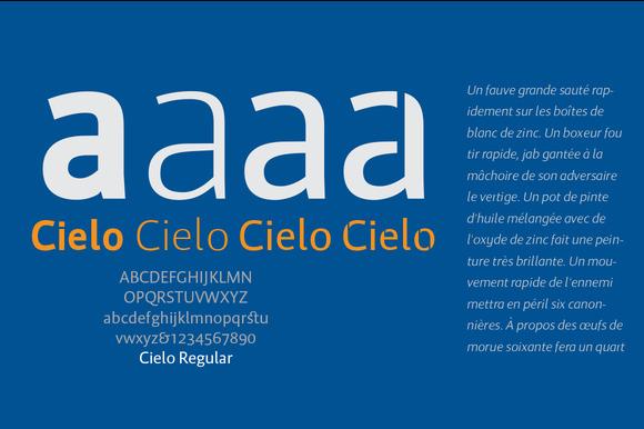 Cielo Font Family In Opentype
