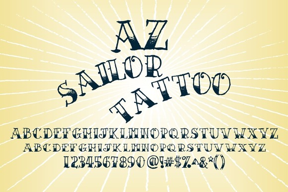 20 Cool Tattoo Fonts For Your Next Vintage Design ~ Creative Market ...