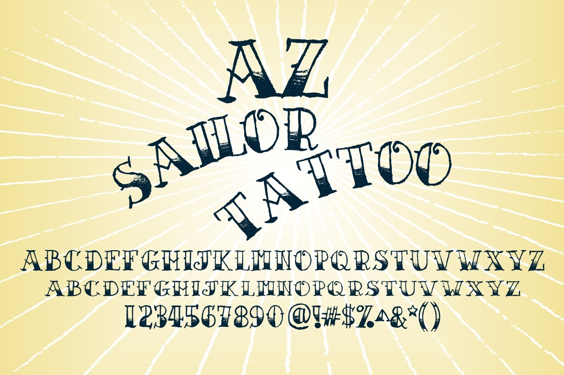 Simple Tattoo Lettering A-Z