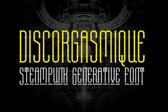 Discorgasmique Font
