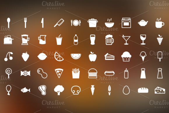 Snack Time 50 Food Themed Icons