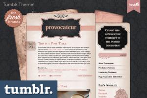 Provocateur Tumblr Theme