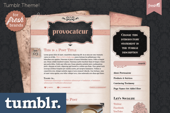 Provocateur Tumblr Theme