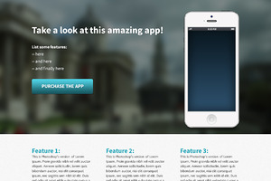 iPhone app template page