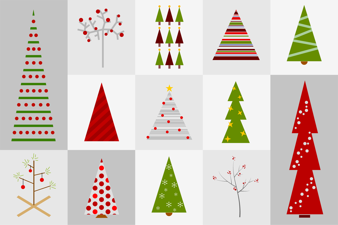 Christmas Trees Illustrations On Creative Market