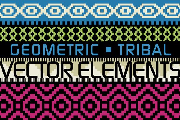 Geometric Tribal Graphic Elements