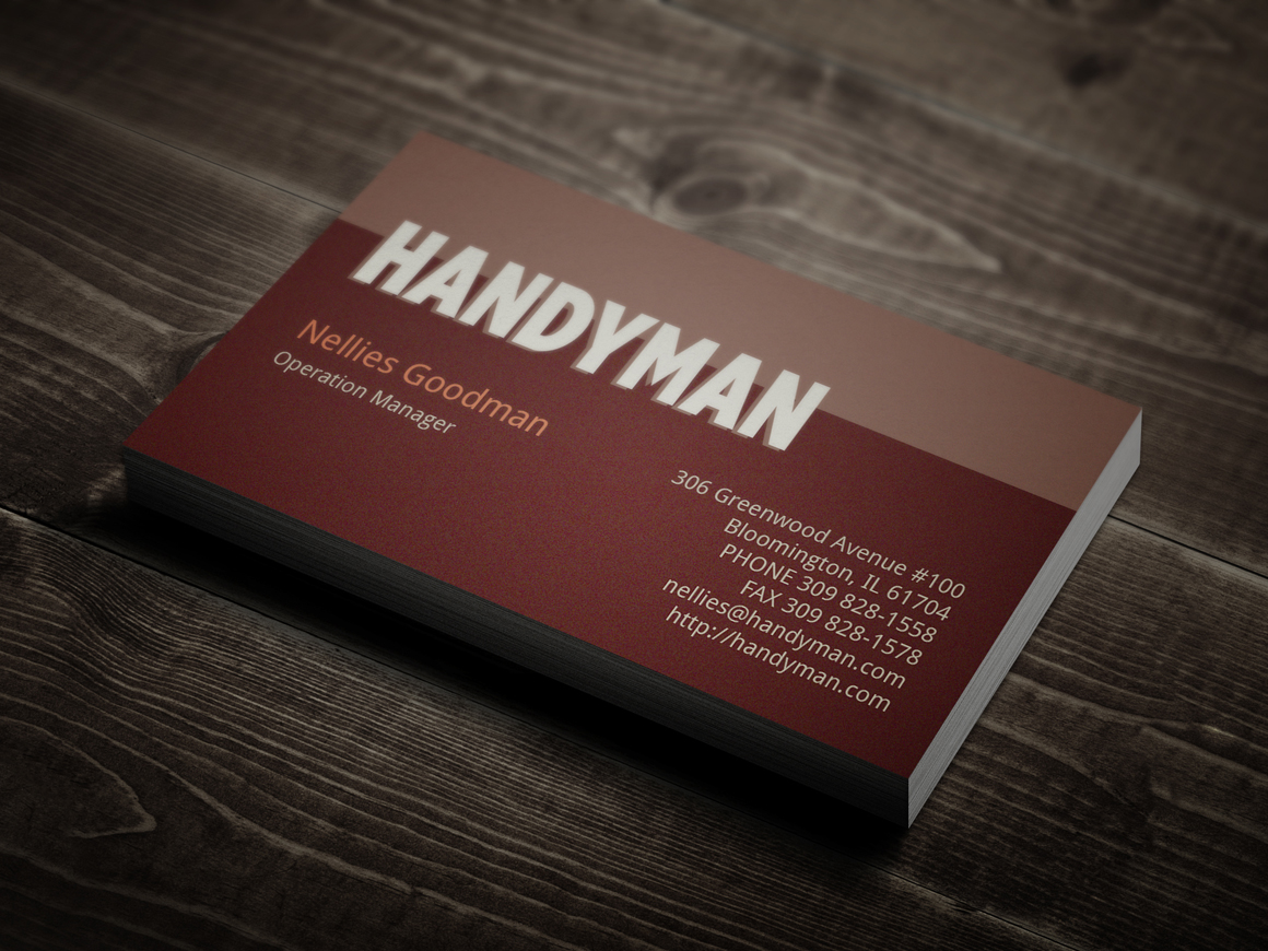 Handyman Business Card Template | Business Card Sample