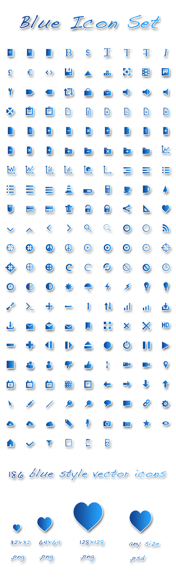 Blue Icon Set