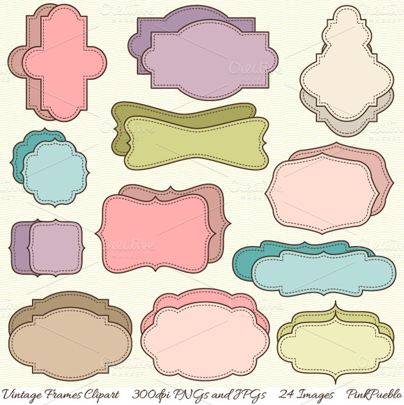 Vintage Illustrations Vector Vintage Frames Vectors And