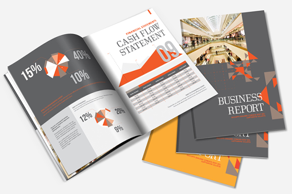 Annual Report Brochure Template   Brochure Templates on Creative ccMEFF3S