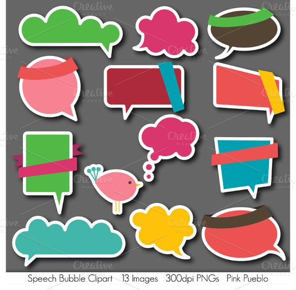 Speech Bubbles Vectors And Clipart