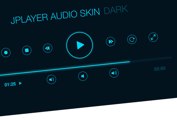 Audio Player User Interface PSD HiDP