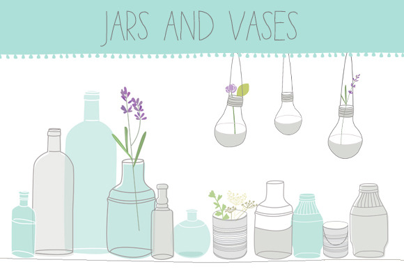 Jars And Vases Clip Art