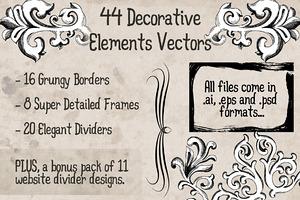 44 Decorative Vector Elements Pack