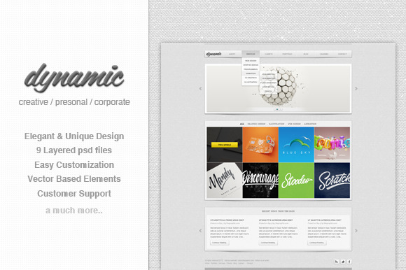 Dynamic Multipurpose PSD Template