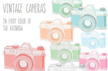 Vintage Cameras- Images, PSD, Vector