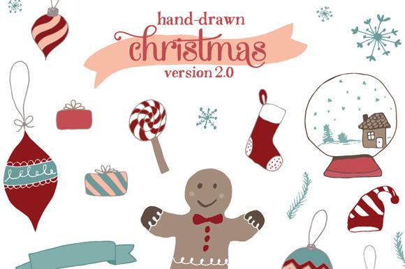 Hand-Drawn Christmas 2.0 - Illustrations