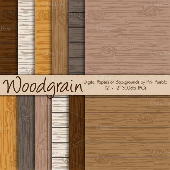 Vector Woodgrain Backgrounds Papers