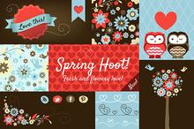 'Spring Hoot' Design Elements Pack