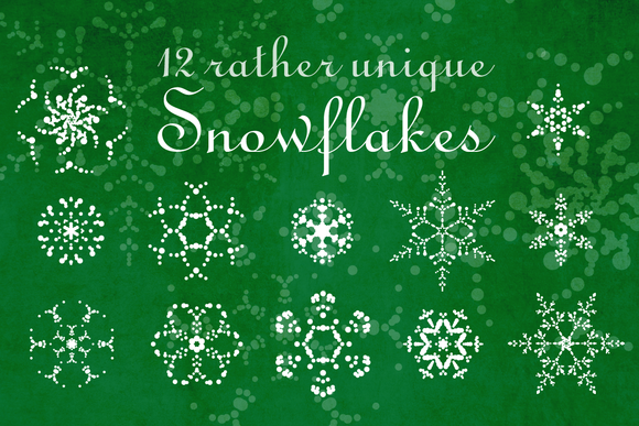 12 Complex Vector Snowflakes